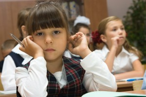 The thoughtful schoolgirl