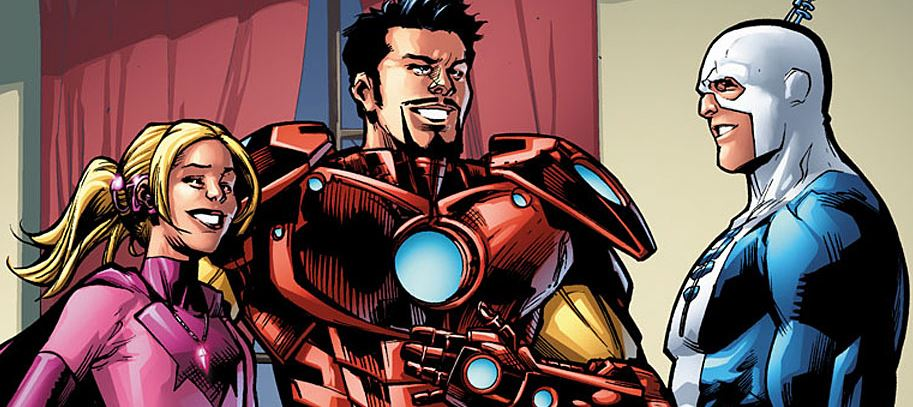 Iron Man Blue Ear Sapheara