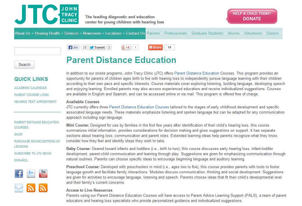 Success For Kids With Hearing Loss Speech & Language Development ...