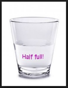 glass is half full
