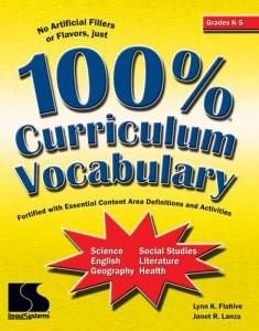100 percent Curric Vocab Primary