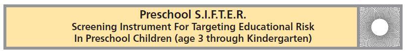 Preschool SIFTER banner