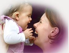 baby and mom Cochlear photo
