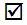 checkmark in box - small
