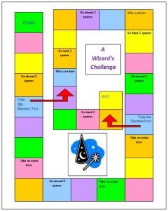 Wizaard game board