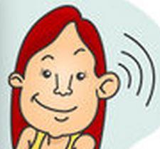 listening girl