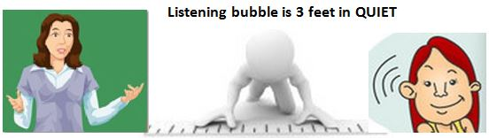 Listening bubble 3-6 ft