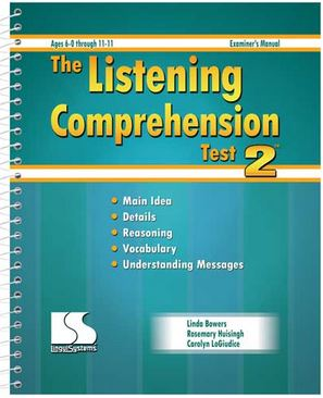 language and listening comprehension test How to improve your foreign language comprehension  time and seeing how much you understood is also the only really true test of your listening.