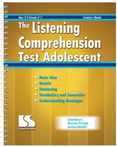 Listening Comprehension Test Adolescent
