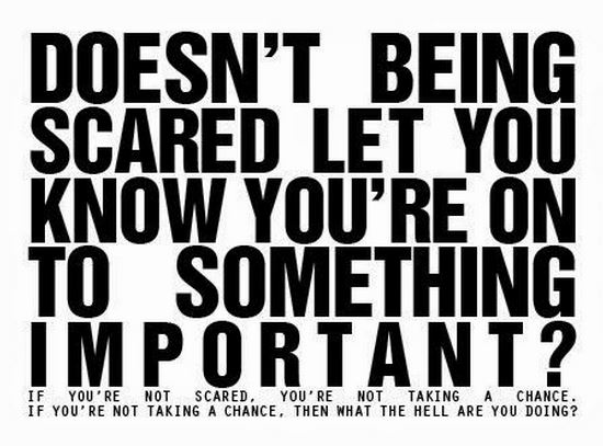 Doesn't being scared quote