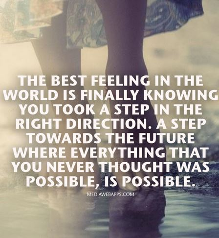 The best feeling quote