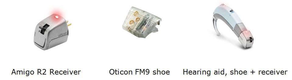 Oticon FM receiver shoe