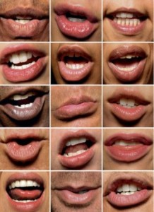 Lipreading mouth positions
