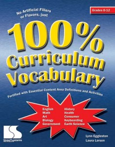 100 percent Curric Vocab Secondary