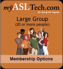 myASLTech Large Group: 20+ People Memberships