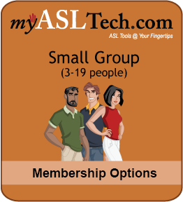 myASLTech Small Group: 3-19 People Memberships
